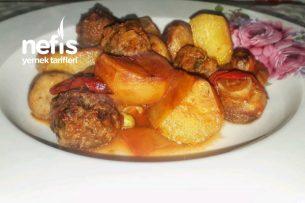 Fırında Köfteli Mantar Yemeği (Karışık Sebzeli) Tarifi