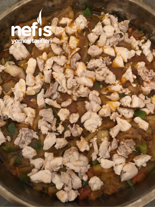 Patlıcanlı Tavuk Kapama