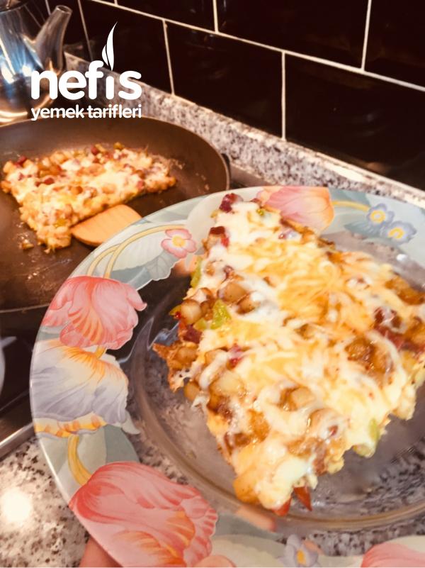 Teremyağlı Patatesli Pizzamız
