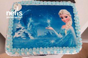 4 Katlı Doğum Günü Pastası (Elsa Temalı) Tarifi