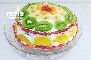 Teremyağlı Meyveli Yaş Pasta Tarifi