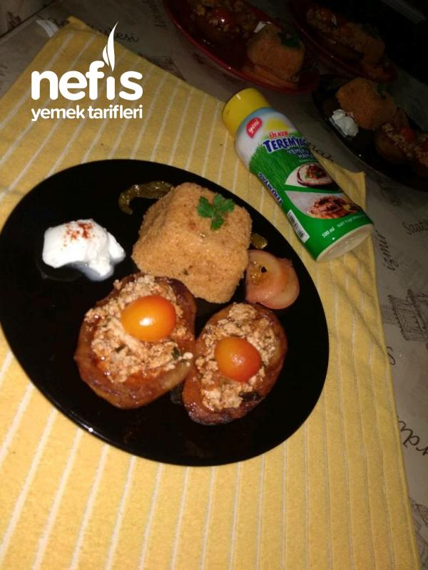 Teremyağlı Tavuklu Patates Sandalı