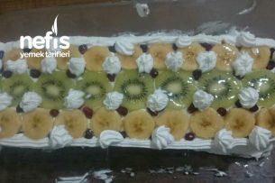 Bisküvili Meyveli Baton Pasta Tarifi