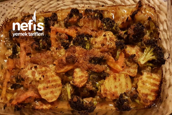 Fırında Karışık Sebze Kızartma (Et, Balık Menüleri İçin) Tarifi