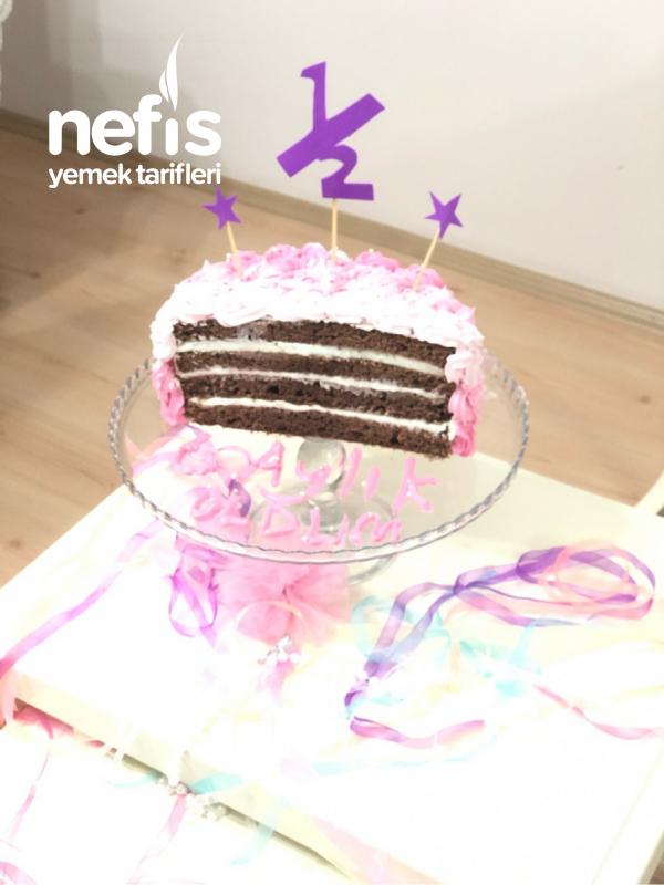 Half Brithday Cake (yarım yaş pastası)