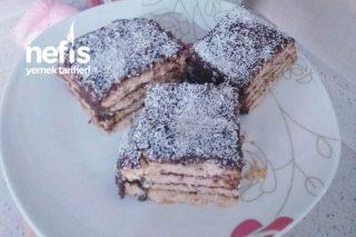Teremyağlı Kakaolu Bisküvili Pasta Tarifi