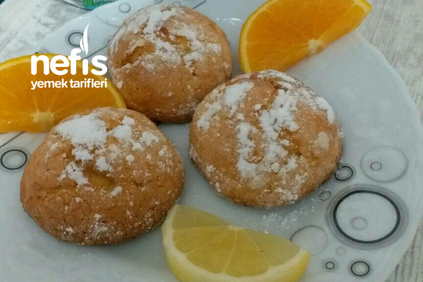Teremyağlı Mis Kokulu Limonlu Portakallı Kurabiye