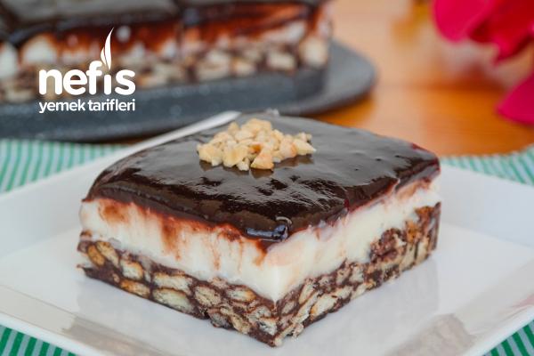 Muhallebili Mozaik Pasta Tarifi (videolu)