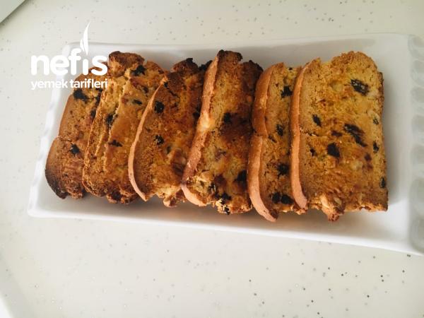 Teremyağlı Biscotti ( İtalyan Kurabiyesi)