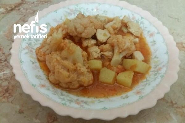 Teremyağlı Tavuklu Karnabahar Yemeği Tarifi