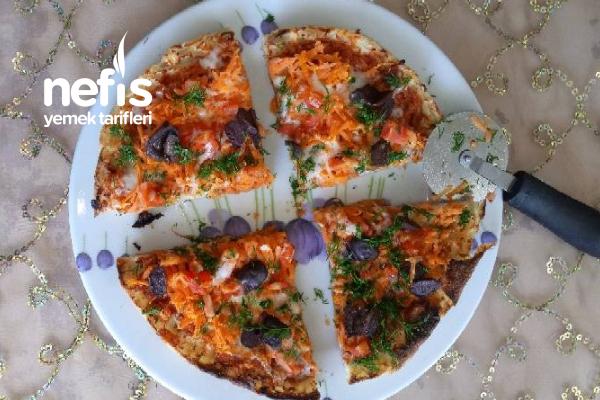Bazlama İle Kahvaltı Pizzası (Kahvaltıda Şenlik Var) Tarifi