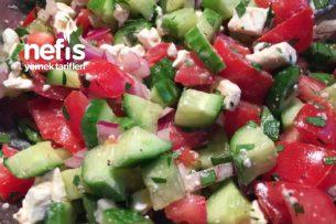 Domates Salatalık Ve Beyaz Peynir Salatası Tarifi