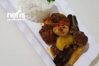 Fırında Sebzeli Köfte Patates Tarifi