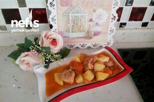 Teremyağlı Tavuklu Patates Bezelye Tarifi