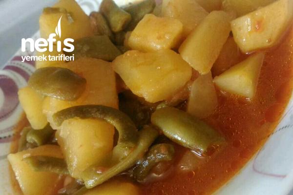 Patatesli Yeşil Fasulye Yemeği (Buzluktan) Tarifi