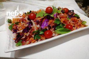 Renkli Kış Salatası (Az Malzeme Bol Lezzet) Tarifi