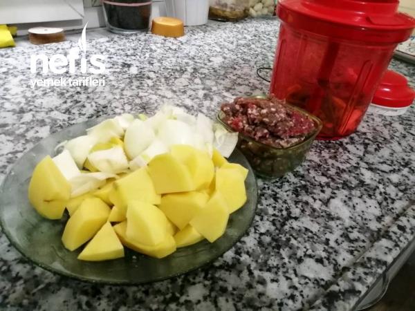 Pamuk Gibi Etli, Patatesli Pide(süper Lezzet)