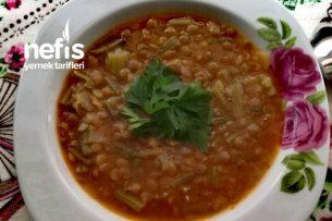 Ispanak Saplı Yeşil Mercimek Çorbası (ekşimsi) Tarifi