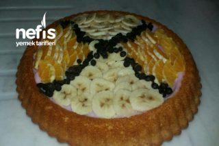 Portakallı Muzlu Tart Kek Tarifi