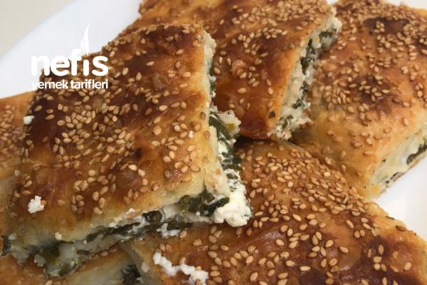 Peynirli Ispanaklı Tepsi Böreği Tarifi