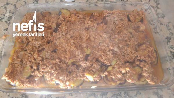 Fırında Patatesli Patlıcan Oturtma