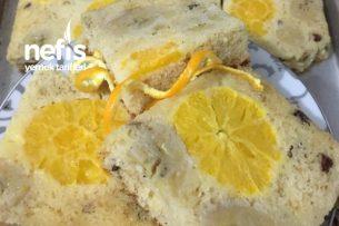 Bademli Kek ( Muzu Portakalı Üstünde ) Tarifi