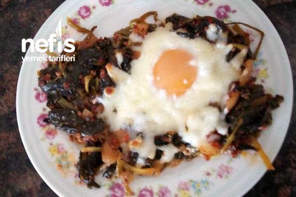 Ispanaklı Kıymalı Yumurta Tarifi