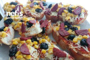Kahvaltılık Bayat Ekmek Pizzası Tarifi