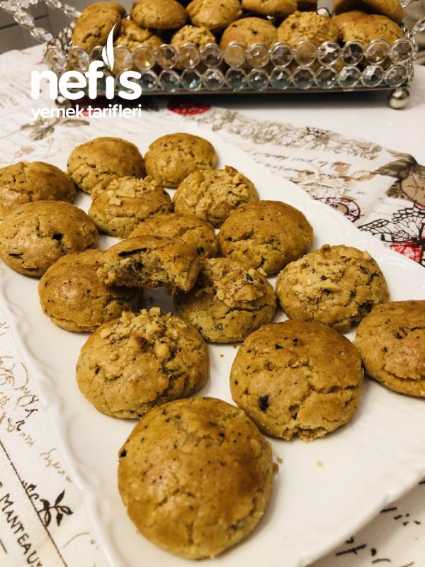 Nefis Çaylı Kahveli Fındıklı Kurabiye(5 Dakikada Hazır)