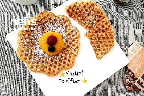 Sağlıklı Yulaflı Kahvaltılık Waffle (Mango Sosuyla) (Videolu) Tarifi