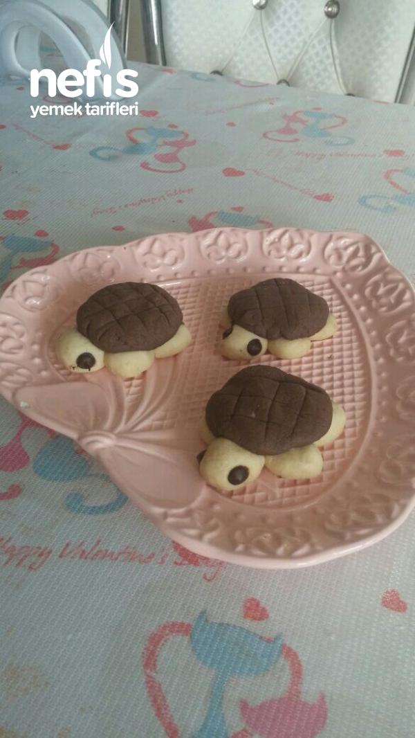 Çocuklar İçin Kaplumbağa Kurabiye