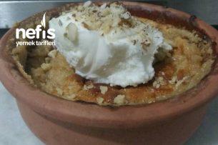 Güveçte Dondurmalı Fırın Helva Tarifi