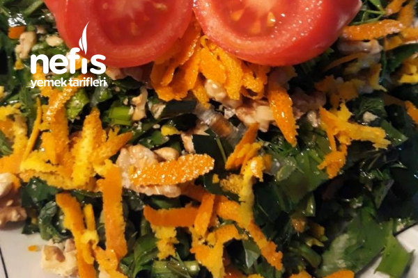 Ispanaklı Diyet Salata Tarifi