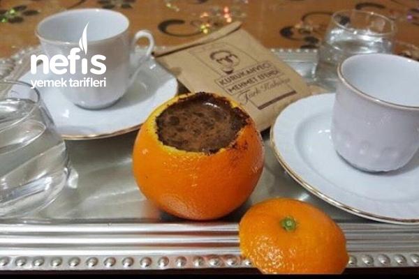 Portakal Kabuğunda Türk Kahvesi Tarifi