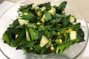 Portakal Sulu Ispanak Salatası (Videolu) Tarifi