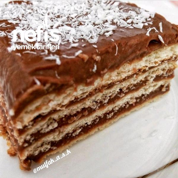 Bisküvi Pastası(kendi Yaptığım Puding İle)