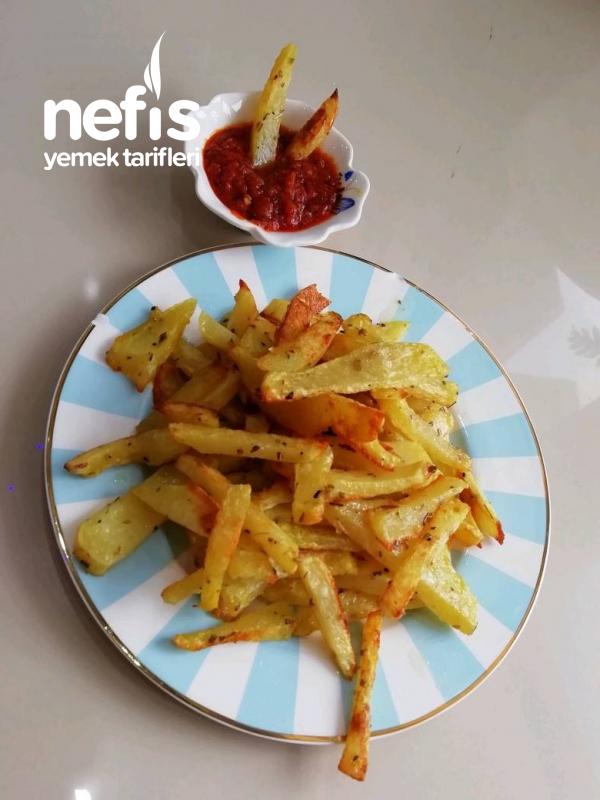 Muhteşem Fırında Patates Kızartması Ve Muhteşem Dipsosu