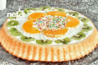 Tart Kalıbında Meyveli Pasta Tarifi