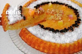 Jöle Kıvamında Limon Sosuyla Pamuk Kek (Az Malzemeli) Tarifi