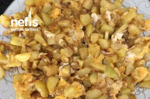 Kahvaltının Vazgeçilmezi Patatesli Soğanlı Yumurta Tarifi