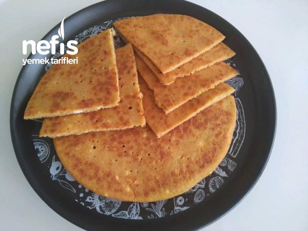Unsuz Kırmızı Mercimekli Tavada Diyet Ekmek