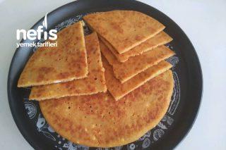 Unsuz Kırmızı Mercimekli Tavada Diyet Ekmek Tarifi
