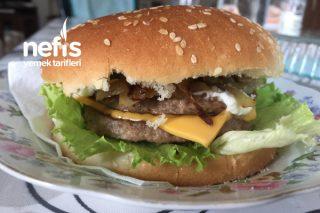 Karamelize Soğanlı Kolay Burger Tarifi