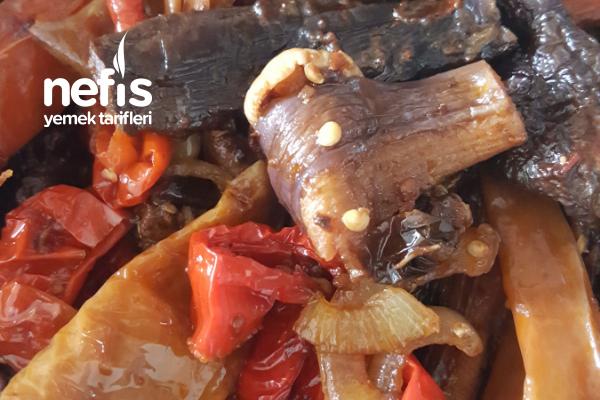 Kuru Patlıcan Biber Kavurması Tarifi