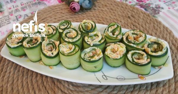 Nefis Salatalık Ruloları