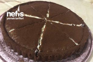 Tart Kalıbında Çikolatalı Muhallebili Kek Tarifi