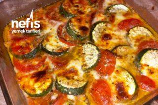 Mozzarella ve Domatesli Kabak Kebabı Tarifi
