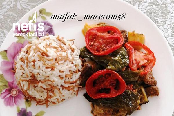 Patlıcanlı-Patatesli Kebap Tarifi