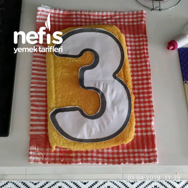 Harf Pasta (4yumurtali pandispanya ile)