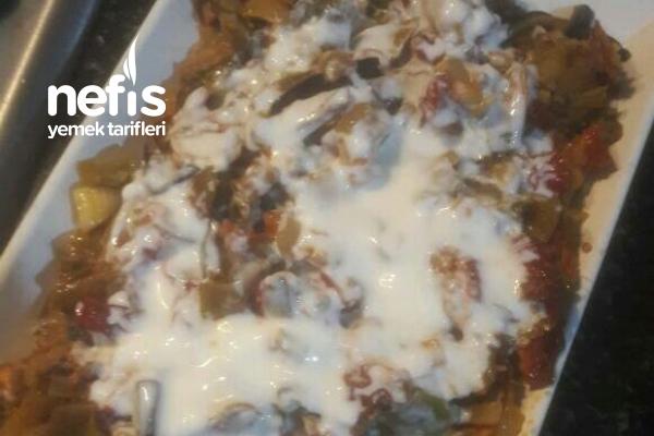 Kıymalı Kurutulmuş Biber Patlıcan Ve Domates Haşlaması Tarifi